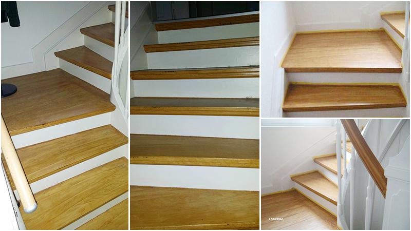 Stufen maseriert / verholzt